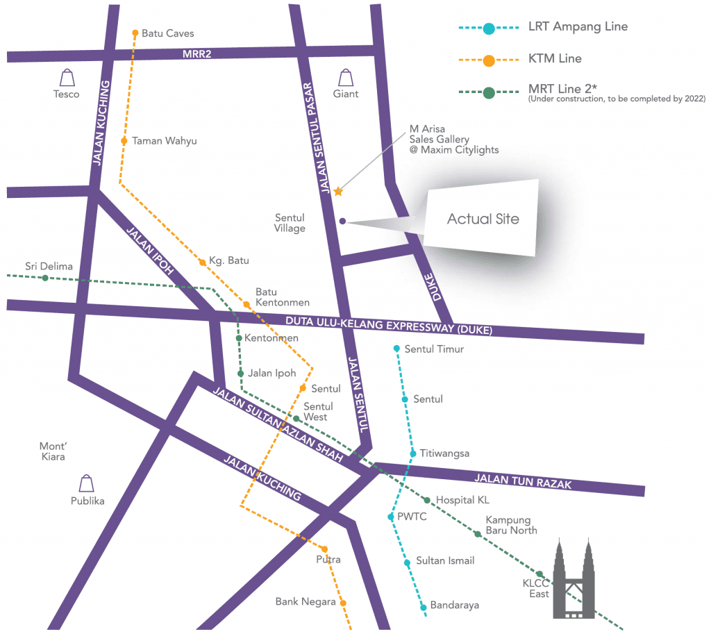 M Arisa Location Map